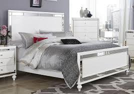 glitzy 4 pc white mirrored queen bed ns dresser amp mirror bedroom furniture set ebay bedroom furniture mirrored bedroom