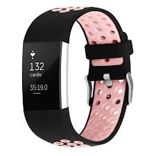 iGK Fitbit Charge 2 <b>Bands Soft Silicone</b> Adjustable Replacement ...