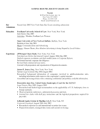 recent grad resume recent grad resume 4314