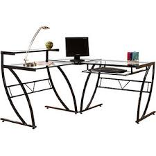 glass office furniture florence l shaped glass desk black and clear black glass office desk 1