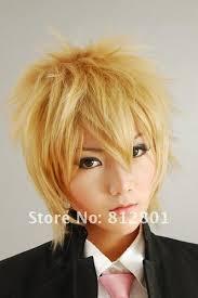 Bakumen <b>akito takagi</b> 30cm couleur blonde chaud vente perruque cosplay - 483233484_257