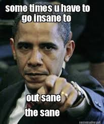 Meme Maker - some times u have to go insane to out sane the sane ... via Relatably.com