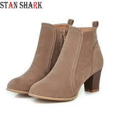 <b>2019</b> New Women Spring <b>Autumn Ankle</b> Boots Comfort Low Heels ...