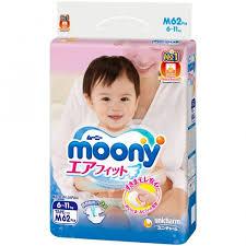 <b>Подгузники Moony</b> (<b>M</b>) 6-11 кг (62 шт.) - IRMAG.RU