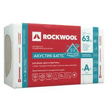 Звукоизоляция <b>ROCKWOOL АКУСТИК БАТТС</b> 50 мм 6 м2 купить ...