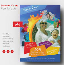 summer camp flyer jpg psd esi indesign beautiful summer camp flyer template