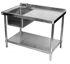stainless kitchen work table: stainless steel table sinks  jpgset id stainless steel table sinks