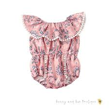 <b>Off Shoulder</b> Pink <b>Onesie</b> — Hunny and Hive Boutique