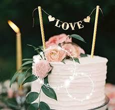 Love Wedding Cake Banner Topper, Party Supplies ... - Amazon.com