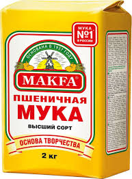 <b>Мука MAKFA пшеничная</b> хлебопекарная высший сорт, 2 кг ...