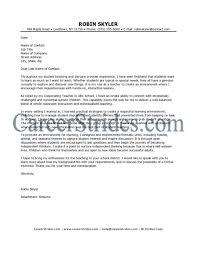 Example Of Cover Letter For Job Application  sample cover letter     LiveCareer Elementary Teacher Cover Letter Examples with Teaching Cover Letters