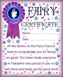printable fairy certificate well done for being good rooftop certificate from the fairies to say well done for being good
