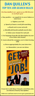 dan quillen s top ten job search rules infographic a day