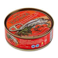 <b>Килька LAATSA</b> обжаренная в томатном соусе с чили 240г жесть ...
