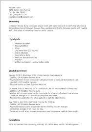 professional utilization review nurse templates to showcase your    resume templates  utilization review nurse