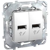 <b>USB розетка Schneider Electric</b> Unica 2.0 для зарядки, белый ...