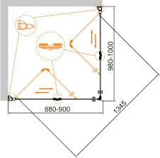 <b>Душевой уголок Cezares Eco</b> O-ASH-2-90/100-C-Cr купить в ...