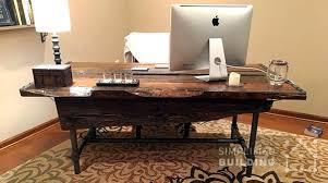 diy rustic office desk build rustic office desk