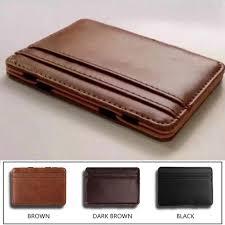 NEW PU leather creative <b>magic wallet card</b> bag business <b>card wallet</b> ...
