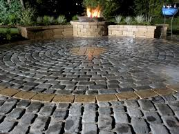 outdoor fireplace paver patio: featured in yard crashers episode quotwoodsy spa retreatquot