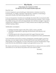 cover letter example cover letter for administrative assistant cover letter best administrative assistant cover letter examples livecareer administration office support standard xexample cover letter