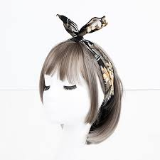 <b>Korea</b> Simple Iron Wire <b>Fold</b> Flower Fabric Rabbit Ears Headwear ...