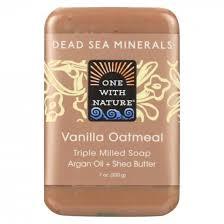 Dead Sea Minerals <b>Triple Milled Mineral Soap</b> Vanilla Oatmeal 200g