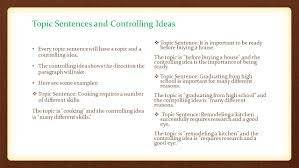 the topic sentence the purpose function of the topic sentence a 4 topic sentences