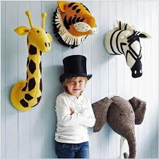 New <b>Animal Head 3D</b> Stuffed Wall Hanging Room Decor Toy Gift ...