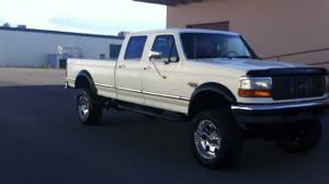 F350 Diesel For Clean Lifted 1995 Ford F350 Crew Cab 4x4 Xlt Longbed 73