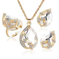 <b>Hot 2019</b> Austrian Crystal Jewelry Set for Women Rose <b>Gold Color</b> ...