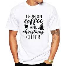 <b>LUSLOS</b> Mens Christmas T <b>Shirt</b> White Round Neck Letter Print ...