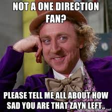 Not a one direction fan? please tell me all about how sad you are ... via Relatably.com