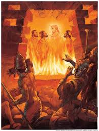 Image result for images of 3 jews thrown into the Fiery Furnace
