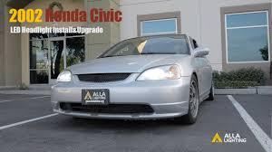 1996-2002 Honda Civic <b>H4</b> LED <b>Headlight Bulbs</b> Upgrade & Install ...