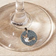 Dog Wine Glass <b>Charms</b> & Tags   Zazzle