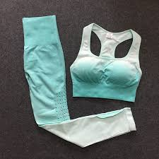 2PCS <b>Ombre</b> Seamless Yoga <b>set gym sets</b> women <b>gym</b> clothes ...