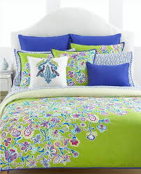lime green pink bedroom blue