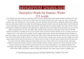 descriptive words for winter   descriptive words list of    recent articles