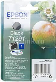 Картридж <b>EPSON T1291</b>, <b>черный</b> [<b>c13t12914012</b>]