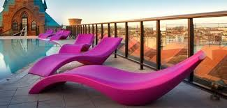 the cloe reclining chair provides you with the perfect way of catching some rays in style the bright colour brings vibrancy and excitement to your garden bright coloured furniture