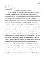 research paper gay marriage   Hsiung Chien Chiu Hsiung English       Course Hero