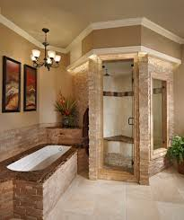 spa bathroom showers: view in gallery stacked stone steam shower looks classy and elegant