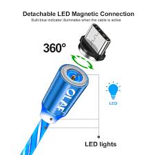 <b>OLAF</b> Sparkling Shining Magnetic Fast Charging Cable <b>LED</b> Micro ...
