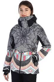 Купить куртка Roxy Frozen Flow, true black/pop snow stars, L INT ...