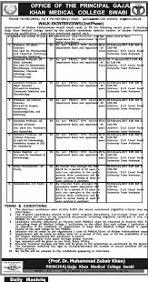 government gajju khan medical college swabi kpk jobs 2017 jobs blog related articles