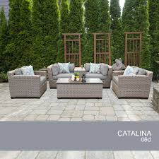 patio couch set image is loading catalina  piece outdoor wicker patio furniture set
