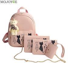 MOJOYCE Fashion <b>Backpack</b> New 4 <b>Sets Women Girl</b> Butterfly ...
