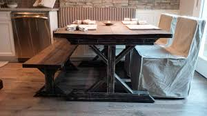 white rustic dining table farmhouse