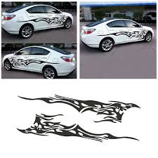 2pcs flame car sticker and decals motorcycle gas tank vinyl auto decal vehicle styling stickers accessories